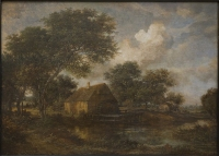 Watermill in a landscape