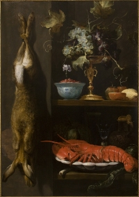Still-life with lobster, hare, grapes, etc